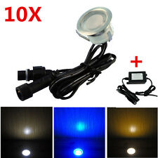 10pcs/set 30mm 12V Outdoor Garden Stair Path Flat In LED Deck Lights + 8W Driver