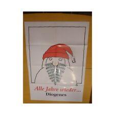 Grande affiche illustrée par Tomi Ungerer-Père Noël-Alle Jahre Wieder-Alsace