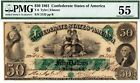 T-6 PF-1 $50 Confederate Paper Money 1861 - PMG About Uncirculated 55!  for sale