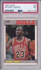 MICHAEL JORDAN 1987-88 FLEER #59 GRADED PSA 7 BULLS