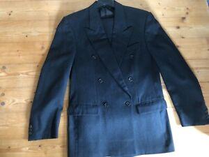 Christian DIOR Monsieur Vintage Anzug Schwarz M 48 Sakko Blazer