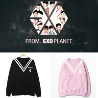 KPOP EXO Sweater Chanyeol Coat Baekhyun Unisex Sweatershirt Pullover Chen Kai