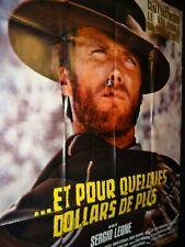 ET POUR QUELQUES DOLLARS DE PLUS Sergio Leone eastwood affiche cinema ressortie