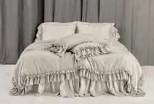 DUVET COVER SET of 3pc. Duvet cover and two pillowcase with ruffles.Rustic style