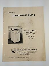 KitchenAid Portable Dishwasher Model KD-2P Catalog of Replacement Parts 1961 VTG