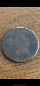 1797(?) liberty cap half cent With Pole plain edge