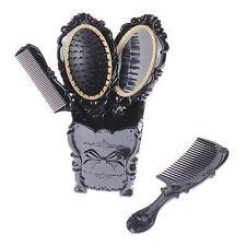 Luxury Makeup 5pcs Set Women Beauty Hair Brush Massage Comb Mirror Holder W/ Cup