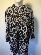 Women's Plus Size 3X Pullover Tunic Top Leopard Cheetah Print NWT