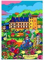 Tableau à colorier en velours - Château de Villandry