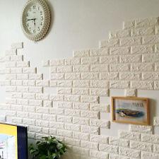 Luxury 3D effect Flexible Stone Brick Wall Textured Viny Wallpaper Paste DIY