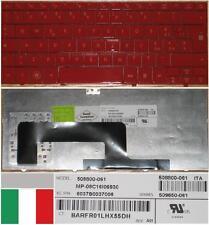 Tastiera Qwerty Italiana HP MINI 1000 700 MP-08C16I06930 508800-061 Rosso/rosso