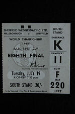 TICKET 1966 WORLD CUP  19/07/1966  ARGENTINA V SWITZERLAND  MINT