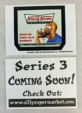 CHEAP PROMO CARD: SILLY SUPERMARKET SERIES 3 (Top Shelf 2005) KRUSTY KREME