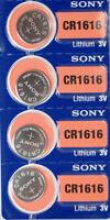 4 Pk SONY CR1616 Lithium 3v Batteries CR 1616