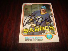 1981 O-PEE-CHEE # 29 RICHIE DUNN SABRES SIGNED AUTOGRAPH NHL HOCKEY CARD