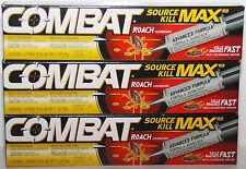 3 Combat Roach Gel Source Kill Max R3 Kills Roaches Fast (3 Pack) Pest Control ❤