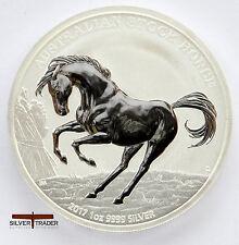 2017 1oz Australian Stock Horse 1 ounce Silver Bullion Coin unc: