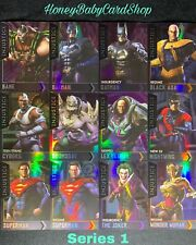 Injustice Arcade Series 1 Full Gold Starter Holofoil Set Out of Print 12 Cards