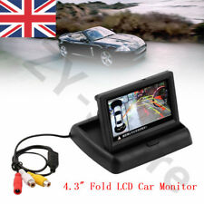 """4.3"""" Pantalla TFT Monitor Plegable coche trasera vista cámara de reversa pantalla para venta de Reino Unido"""