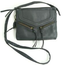 Icing Brand womans shoulder bag Gray Zip Accent Faux Leather Bag