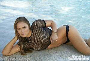 RONDA ROUSEY UFC MMA MIXED MARTIAL ARTS CHAMPION FIGHTER TOPLESS PHOTO POSTER