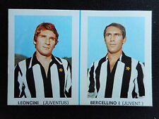 FIGURINA CARTONATA EDIS 1968/69 DOPPIA DISTRIBUTORE LEONCINI/BERCELLINO JUVENTUS