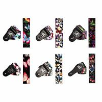 Premium Quality Smooth and Shiny Multi Coloured Butterflies Guitar Strap