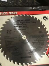 Black and Decker General Purpose Wood Cutting Steel Blade 7.25 inches