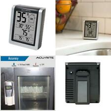 "AcuRite 00613 Indoor Thermometer & Hygrometer with Humidity Gauge, 3"" H x..."