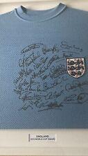 More details for england football 1970 airtex signed squad shirt professionally framed with coa