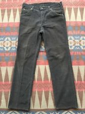 Vtg Lee Riders Corduroy Pants Jeans Purple/Gray Made In USA Men's Size 32x32