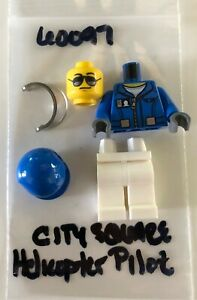 Lego 60097 City Square Helicopter Pilot Minifigure RETIRED