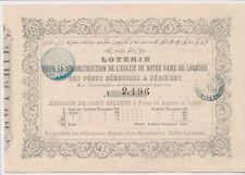Turkey Türkei Griechenland  Ottoman Loterie 1861 Piyango Billet dokument  ( 407