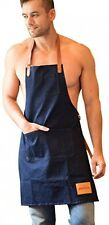Unisex Chef Kitchen Adjustable Apron W Two Convenient Pockets For Men cooking