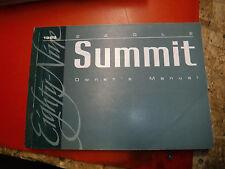 1989 EAGLE SUMMIT ORIGINAL FACTORY OWNERS MANUAL OPERATORS BOOK