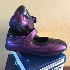 Girls Leather Shoes Belles Filles by Sabatino Purple and  Black EU Size 24M