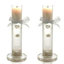 Decorative Glass Wedding Wax Candles Sticks Holder Romantic Hearts Ceremony Love
