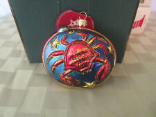 Slavic Treasure Signs of the Zodiac Blown Glass Ornament New in Box Cancer