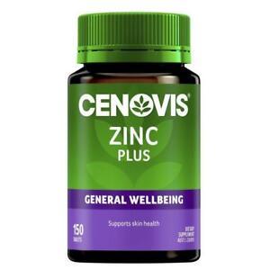 CENOVIS ZINC PLUS 150 TABLETS FOR  SKIN & IMMUNITY HEALTH DIETARY SUPPLMENT