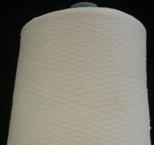NYLON RAYON 3800 YPP LACE WEIGHT RIBBON CONE YARN 14 LBS WHITE (N1)
