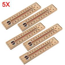 5×Thermometer Holzthermometer Analog Außenthermometer Zimmerthermometer Holz