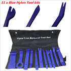 Blue Nylon Car Panel Dash Audio Stereo GPS Molding Removal Install Tools Kit 11