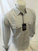 Mens ID BY CAVIAR DREMES Designer Shirt Woven WHITE ABSTRACT Roar With Class 142