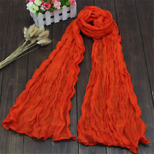Women Long Shawl Wrap Soft Warm Voile Stole Crinkle Scarf 20 colors Muslim HIJAB
