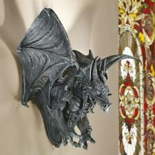"Vengeance The Dragon Design Toscano 31"" Wide Gothic Finished Wall Sculpture"