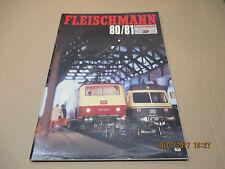 Fleischmann catalogue documentaion brochure collection 1980/81 avec tarif 1980