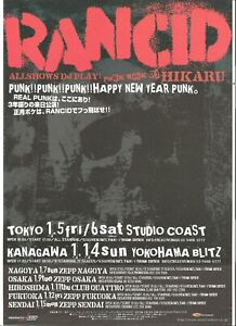 RANCID 2006 Tour ORIGINAL JAPANESE POSTER size: 11x8 inches