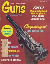 Guns June 1973 Magazine, Ruger Blackhawk ! Weatherby Mark XXII back cover ad /q8