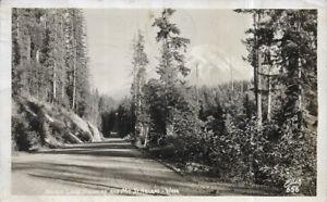 Real Photo RPPC: Spirit Lake Highway and Mt. St. Helen's, WA; Ellis Photo; 1947
