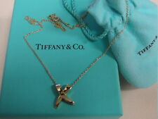 """Tiffany & Co. Paloma Picasso """"X"""" Kiss 18k Yellow Gold Pendant Necklace"""